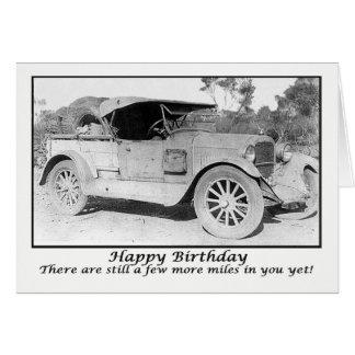 ヴィンテージ車、ハッピーバースデー、少数のマイルleft.humor カード