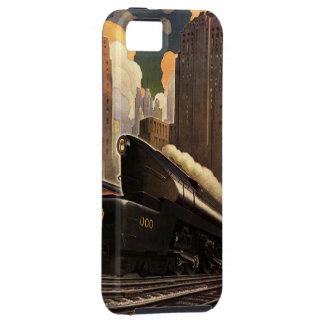 ヴィンテージ都市、鉄道線路のT1二重列車 iPhone 5 ケース