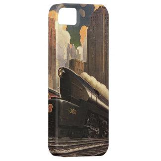 ヴィンテージ都市、鉄道線路のT1二重列車 iPhone 5 CASE