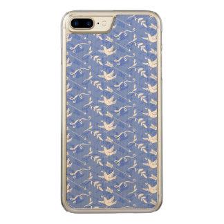ヴィンテージ青い愛鳥 CARVED iPhone 8 PLUS/7 PLUS ケース