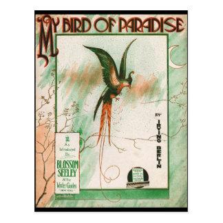 ヴィンテージ音楽シートカバー私の極楽鳥 ポストカード