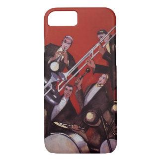 ヴィンテージ音楽、アールデコの音楽的なジャズバンドの詰め込むこと iPhone 8/7ケース