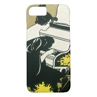 ヴィンテージ音楽、ピアノ、リードを遊ぶ失敗Traumerei iPhone 8/7ケース
