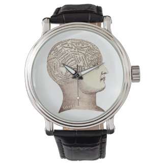 ヴィンテージ骨相学の腕時計 腕時計