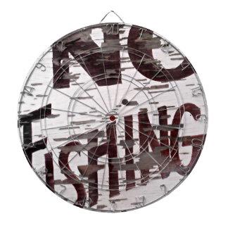 ヴィンテージ魚釣りの印無し ダーツボード