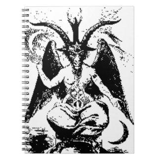 ヴィンテージ黒いBaphomet ノートブック