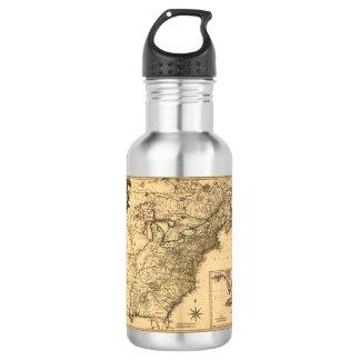 ヴィンテージ1777のPhelippeaux著アメリカのコロニーの地図 ウォーターボトル