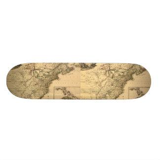 ヴィンテージ1777のPhelippeaux著アメリカのコロニーの地図 スケボー