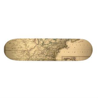 ヴィンテージ1777のPhelippeaux著アメリカのコロニーの地図 スケートボードデッキ