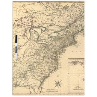 ヴィンテージ1777のPhelippeaux著アメリカのコロニーの地図 ホワイトボード