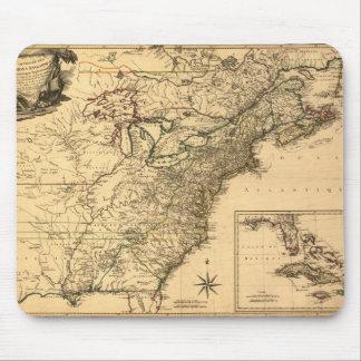 ヴィンテージ1777のPhelippeaux著アメリカのコロニーの地図 マウスパッド