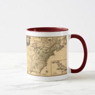 ヴィンテージ1777のPhelippeaux著アメリカのコロニーの地図 マグカップ
