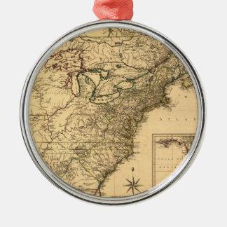 ヴィンテージ1777のPhelippeaux著アメリカのコロニーの地図 メタルオーナメント