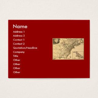 ヴィンテージ1777のPhelippeaux著アメリカのコロニーの地図 名刺