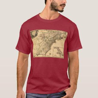 ヴィンテージ1777のPhelippeaux著アメリカのコロニーの地図 Tシャツ