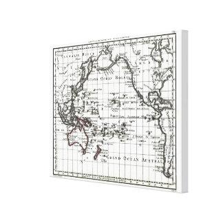 ヴィンテージ1806の地図- AustralasieとPolynesie キャンバスプリント