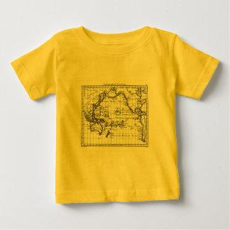 ヴィンテージ1806の地図- AustralasieとPolynesie ベビーTシャツ