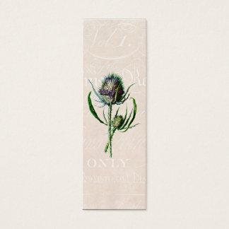 ヴィンテージ1902のスコットランド人のアザミの古い野生花 スキニー名刺