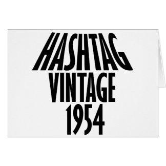 ヴィンテージ1954のデザイン カード