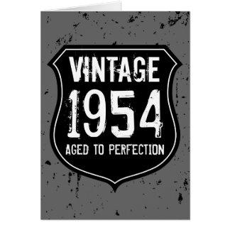 ヴィンテージ1954は完全さの挨拶状の人に老化しました カード