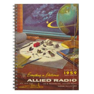 ヴィンテージ1959の無線のノート ノートブック
