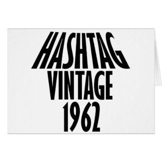 ヴィンテージ1962のデザイン カード