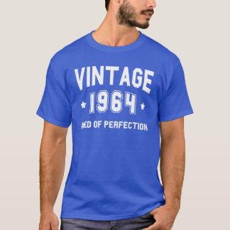ヴィンテージ1964の誕生日-白いフォント Tシャツ