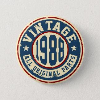 ヴィンテージ1988のすべてのオリジナルの部品 5.7CM 丸型バッジ