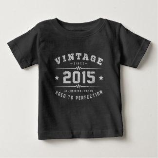 ヴィンテージ2015の誕生日 ベビーTシャツ