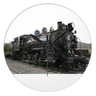 ヴィンテージ2-8-0の蒸気機関の列車 ラージ壁時計