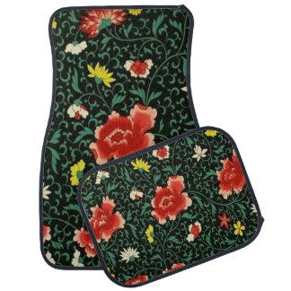 ヴィンテージ4つのカーマットの花の日本のなパターンセット カーマット