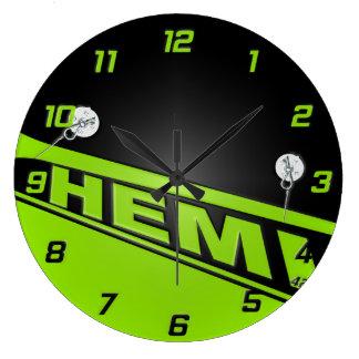 ヴィンテージ426のHemiのデザインの時計の緑 ラージ壁時計