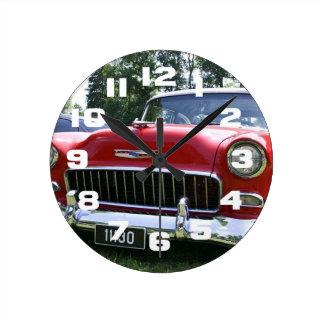 ヴィンテージ56のChevyの中型の円形の時計 ラウンド壁時計