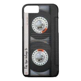 ヴィンテージ80sのカスタマイズ可能なレトロの音楽カセットテープ iPhone 8/7ケース