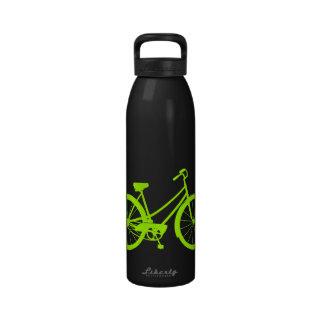 ヴィンテージ|バイク|-|アルミニウム|水|びん|(ネオン|緑)