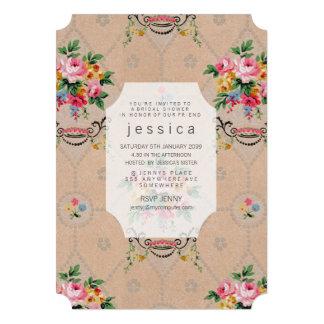 ヴィンテージ|壁紙|フランス語|花柄|パターン|招待 自分だけの招待状