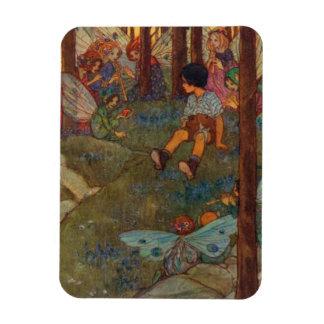 ヴィンテージ-子供は森林妖精に会います、 マグネット