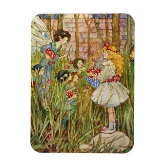 ヴィンテージ-小さな女の子は妖精に会います、 マグネット