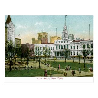 """ヴィンテージ""""市役所""""ニューヨーク ポストカード"""