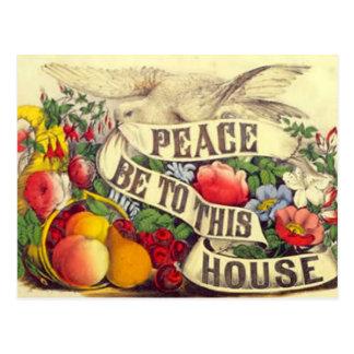 """ヴィンテージ""""平和この家""""の-郵便はがきにあります ポストカード"""