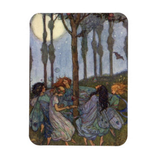 ヴィンテージ-木のまわりの妖精のダンス、 マグネット