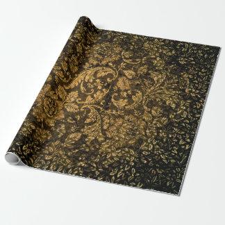 ヴィンテージ、美しいダマスク織 ラッピングペーパー