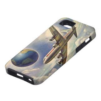 ヴィンテージ 飛行機 飛行 まわり 世界 雲 Case-Mate iPhone 5 ケース