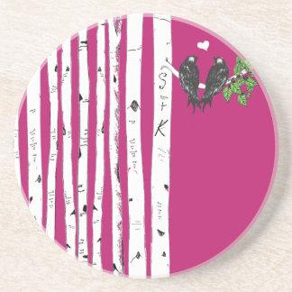 ヴィンテージ|鳥|樺の木|木|コースター コースター