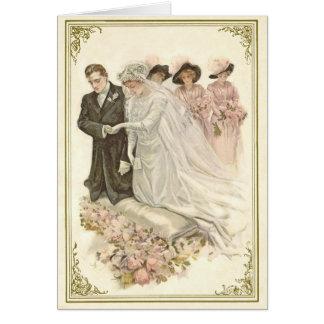 ヴィンテージ、Notecardを結婚するEdwardian カード