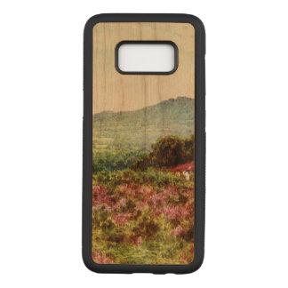 ヴィンテージ、Samsungの銀河系S8、細いさくらんぼ木箱 Carved Samsung Galaxy S8 ケース