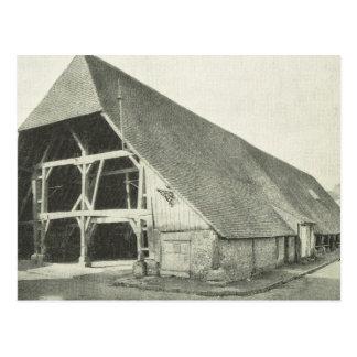 ヴィンテージBas Normandeの伝統的で高い納屋 ポストカード