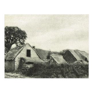 ヴィンテージBas Normandeの伝統的な農家 ポストカード