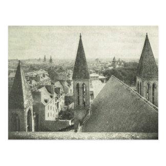 ヴィンテージBas Normande、カンの教会の塔 ポストカード