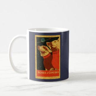 ヴィンテージBelka及びStrelkaのソビエト宇宙犬 コーヒーマグカップ